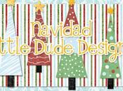 Tarjetas navidad, etiquetas pegatinas imprimibles Little Dude Designs