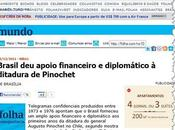 dictadura Brasil sustentó Pinochet, revelan documentos inéditos cancillería Brasilia
