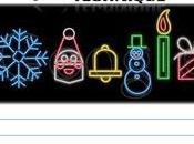 Felices Fiestas, doodle luminoso vacaciones
