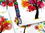 Coloridos árboles abstracto