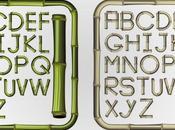 Alfabeto bambú vectores