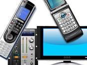 Diez objetos tecnológicos vectores