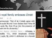 Afirman príncipe kuwaití abrazó cristiana riesgo vida