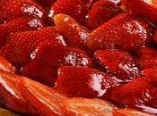 Tarta fresas frescas crema típica crostata italiana)