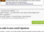 Twitfooter tweets como firmas correos emails