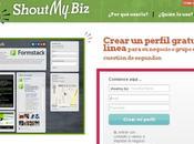 Crea página básica para negocio ShoutMyBiz