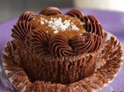 Cupcakes chocolate, bourbon caramelo salado