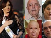 Castro, Kirchner, Lula Silva, Dilma Rousseff, paraguayo Fernando Lugo, Chávez, otra Chávez