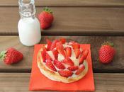 Tartaletas hojaldre crema pastelera fresas