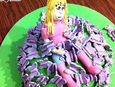 tarta cumpleaños Mille Papillons Cinta
