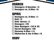 Avengers X-Men checklist