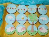 Cupcakes adornados fondant.
