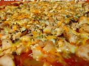 Pizza pisto solomillos pollo