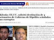 RECORDAR VIVIR.. Wikileaks: EE.UU. solicitó destitución funcionarios Gobierno Hipólito señalados como corruptos...