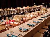 Mesas alargadas para boda