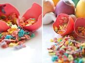Huevos confeti, juego huevo dorado